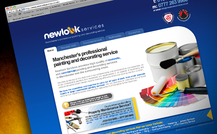 Newlook Website Design Chris Hesketh Freelance Graphic designer North West UK