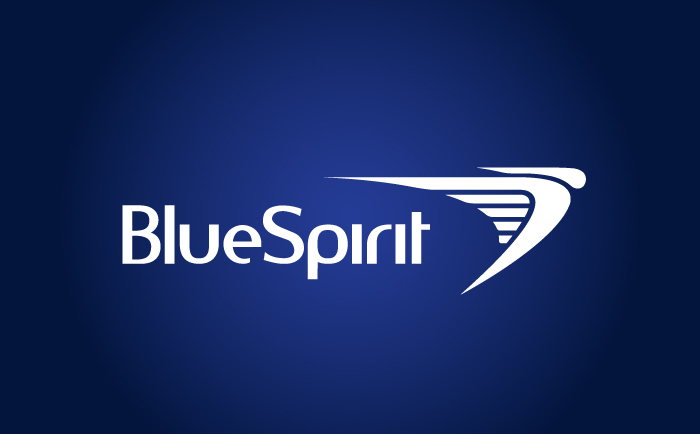 Bluespirit Logo Blue Chris Hesketh Freelance Graphic designer