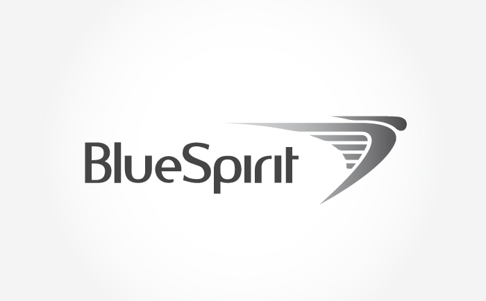 Bluespirit Logo grey Chris Hesketh Freelance Graphic designer