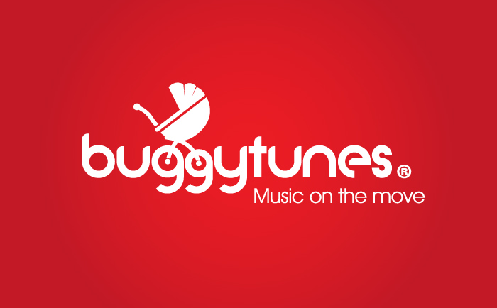 Buggytunes Logo red Chris Hesketh Freelance Graphic designer