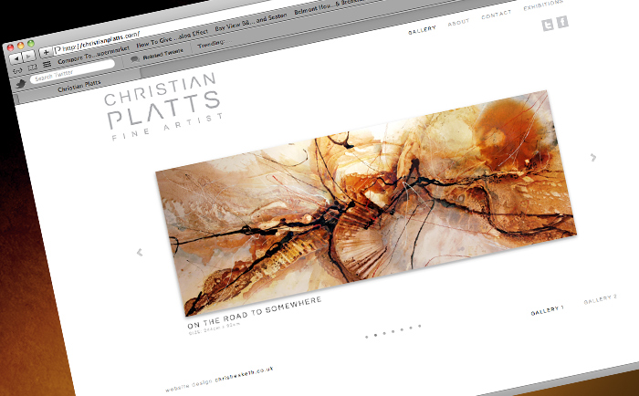 Christian Platts Website design homepage - Freelance Graphic Designer