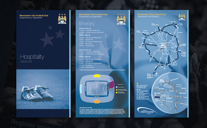 MCFC Mailer Chris Hesketh Freelance Graphic designer North West Manchester