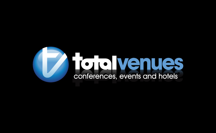 TotalVenues Logo black Chris Hesketh Freelance Graphic designer