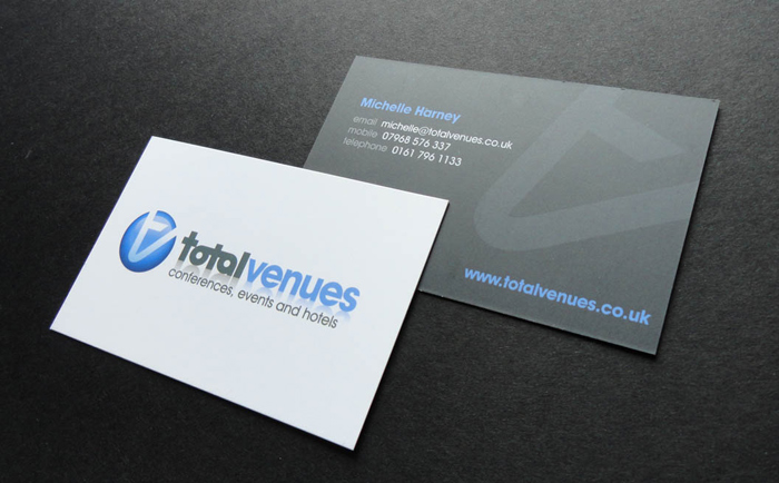 Total Venues Business Cards Chris Hesketh Freelance Graphic designer