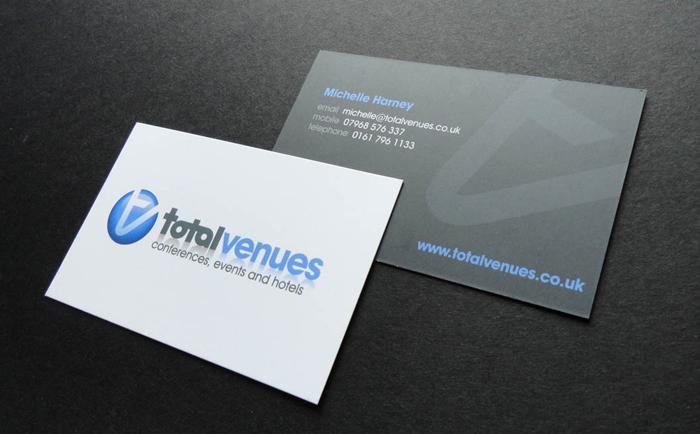 Total Venues Business Cards Chris Hesketh Freelance Graphic designer