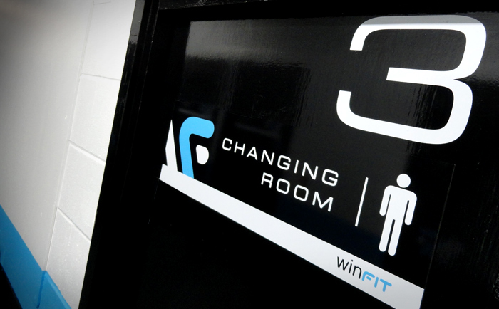 Winfit Logo Door Shot - Chris Hesketh Freelance Graphic designer manchester