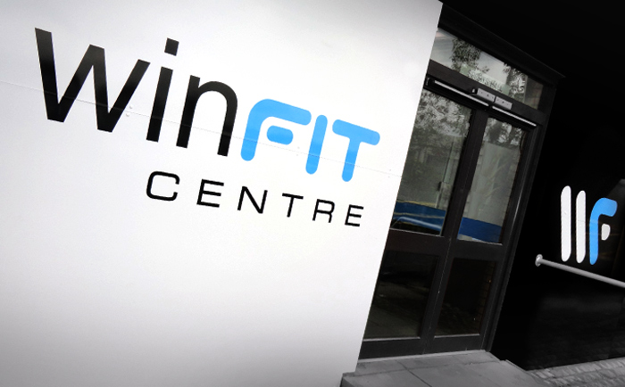 Winfit Logo Exterior Shot - Chris Hesketh Freelance Graphic designer manchester