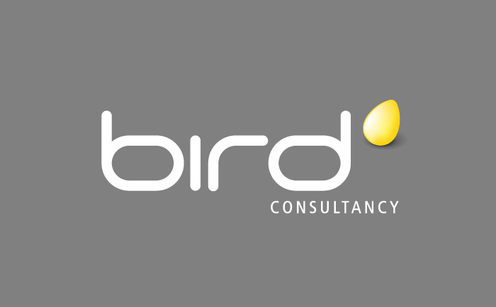 bird Logo grey Chris Hesketh Freelance Graphic designer