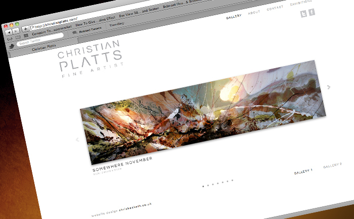 Christian Platts Website Gallery - Freelance Graphic designer Manchester